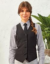 Ladies` Lined Polyester Waistcoat