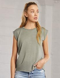Women´s Flowy Muscle Tee With Rolled Cuff